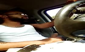 jerking my dick while I'm driving
