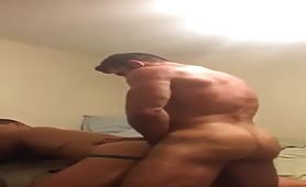 Muscled daddy fucking hard to neighbor's son