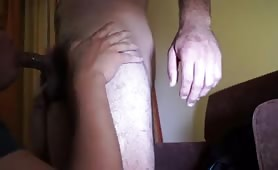 sucking a macho long leg soccer player